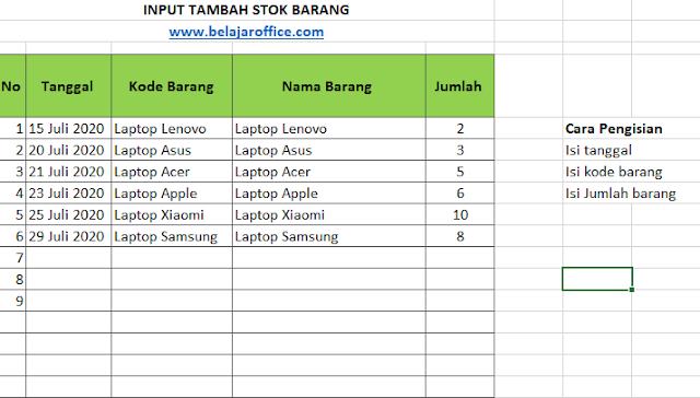 Download aplikasi stok barang sederhana