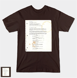 INT. COFFEE SHOP (Pulp Fiction Page 1) Screenplay T-shirt