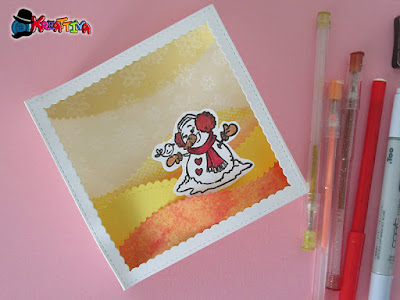 Shadow Box Card con pupazzo di neve