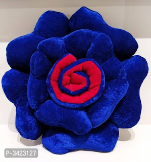 Rose Shaped Cushion With Filler