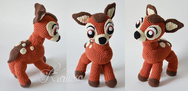 Krawka: cute baby deer forest crochet pattern by Krawka