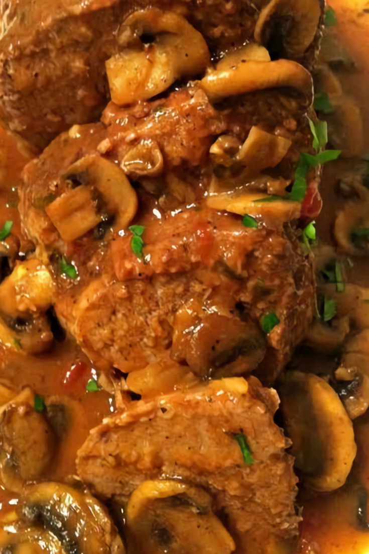 Italian Pot Roast with Mushroom Sauce