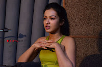 Actress Catherine Tresa Pos during Self Dubbing for Gautham Nanda Movie  0016.JPG