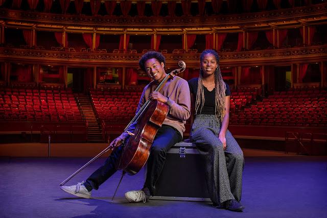 Sheku Kanneh-Mason with Jeneba Kanneh-Mason (Photo  - BBC / Jude Edginton )