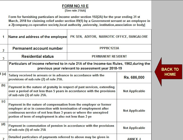 Free Download Automated Master of Form 16 Part A&B for F.Y. 2019-20 and Automated Arrears Relief Calculator U/s 89(1) for F.Y. 2019-20 With Easy Investments to Save Tax u/s 80C 6