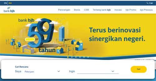 halaman website resmi bank bjb