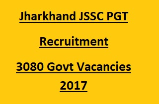 JSSC PGT Recruitment 2017
