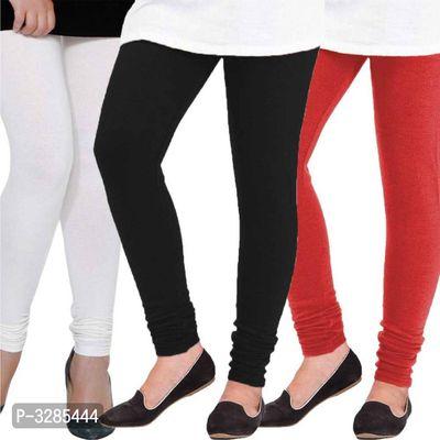 Trendy Solid Woolen Women's Leggings(Pack Of 3)