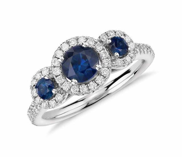 Non Diamond Engagement Rings Sapphire