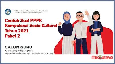 Contoh Soal PPPK Kompetensi Sosio Kultural Tahun 2021 Paket 2