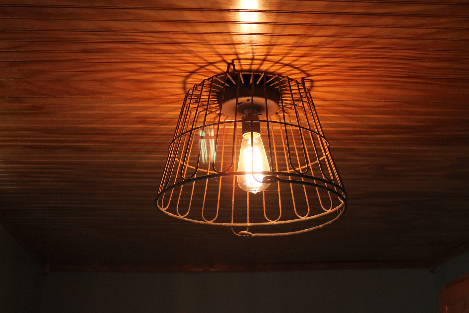 The Salvage Hunt: Egg Wire Basket Light Fixture