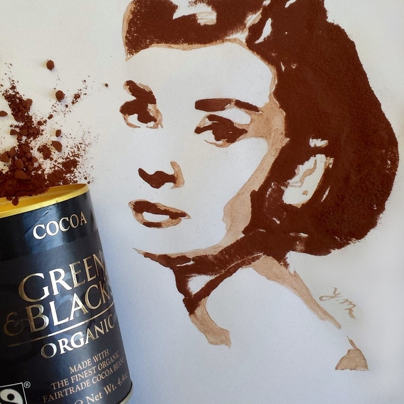 03-Chocolate-Audrey-Hepburn-Yaseen-Eclectic-Art-from-3D-to-Milk-Portraits-www-designstack-co
