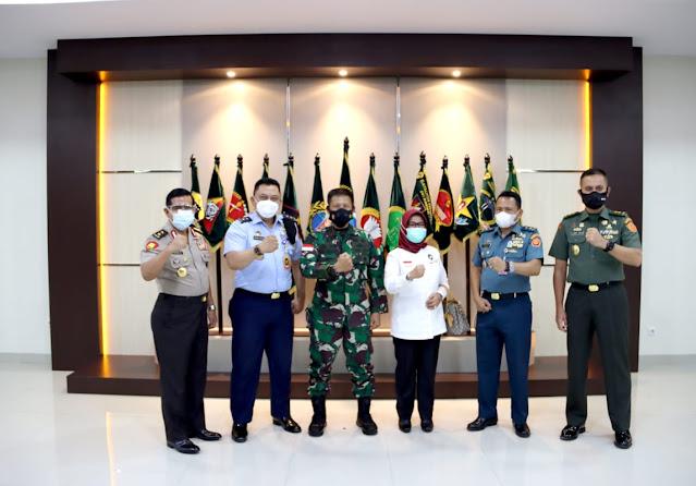 Bahas Penguatan Perbatasan, Pangdam XII/Tpr Terima Kunjungan Staf Ahli Menkopolhukam RI