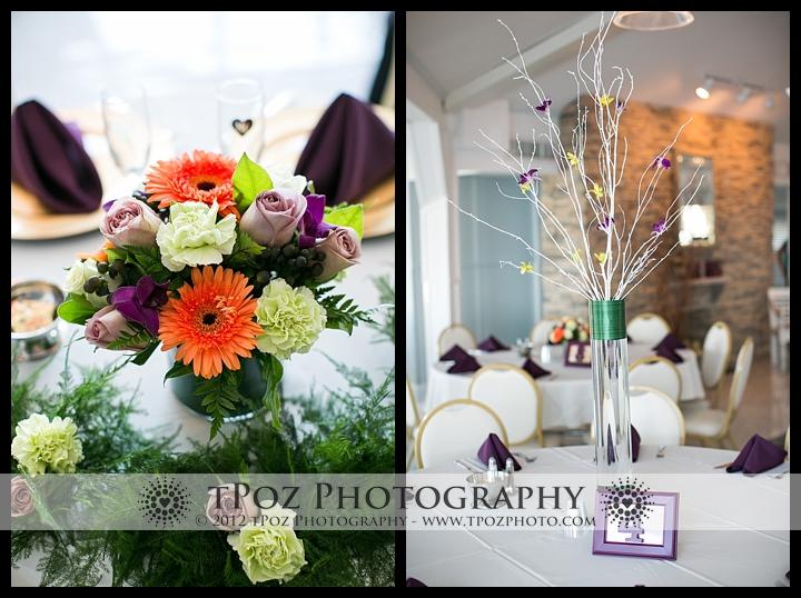 Maher's Florist Centerpieces Kurtz's Beach Wedding Reception
