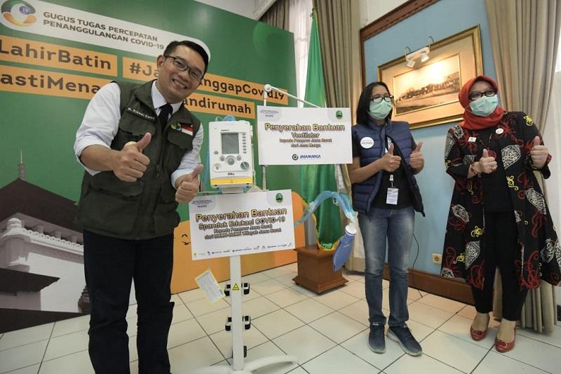 Jabar Salurkan 16 Ribu APD Termasuk Bantuan dari Jack Ma ke Daerah