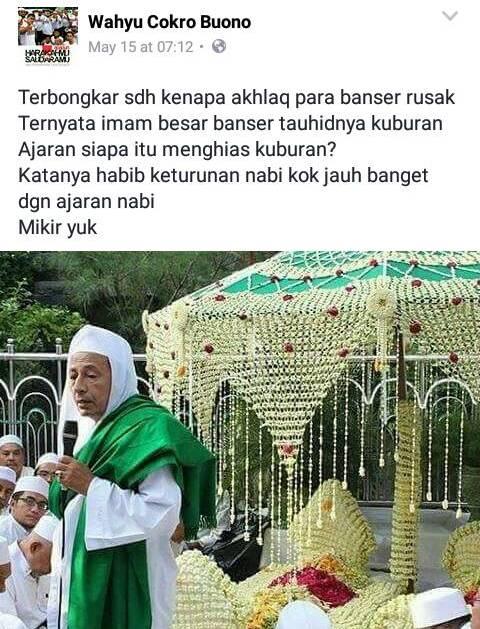 Menistakan Habib Luthfi di Facebook, Wahyu Cokro Buono tak Berkutik di Datangi Banser