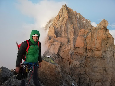 Cyrill on the summit of Petit Dru