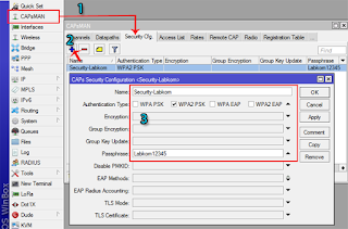 Security CAPsMAN via Winbox