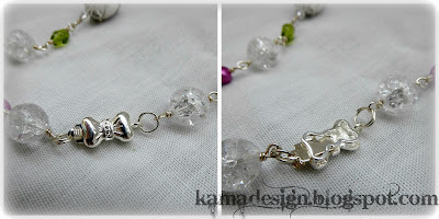 Glass wire summer meadow necklace clasp