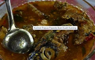 Kuliner Papua Papeda Ikan Kuah Kuning