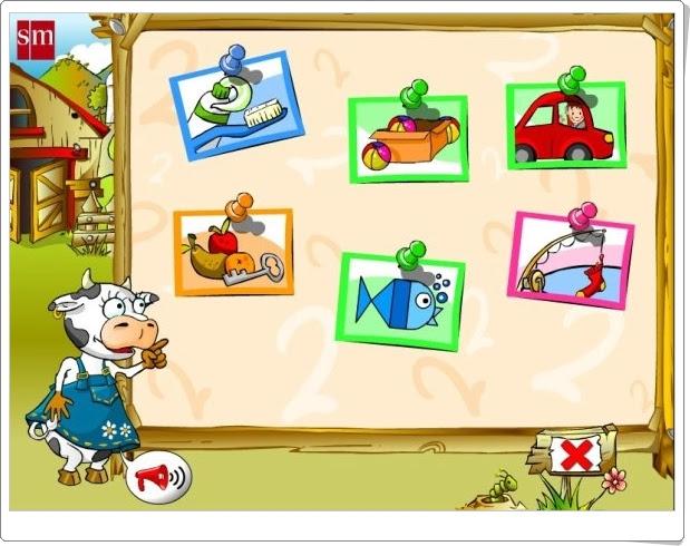 """""""Juega con Paca, la vaca"""" (Juegos interdisciplinares de Educación Infantil de 3 años)"""