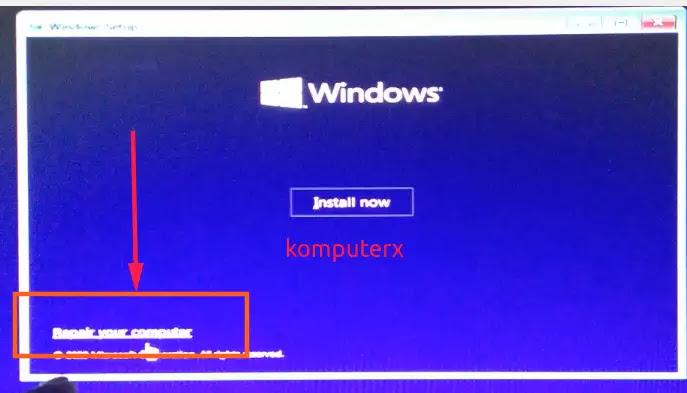 repair pada windows 10 proses restore system