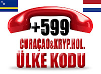 +599 Curaçao ve Karayip Hollandası ülke telefon kodu