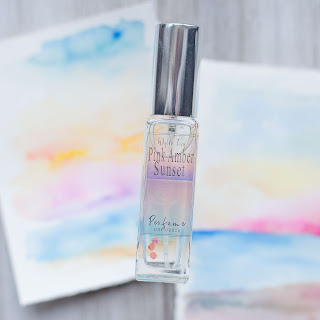 Pink Amber Sunset Perfume The Watercolor Collection by Wylde Ivy