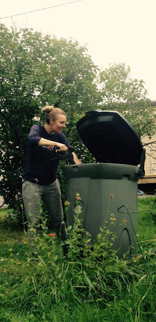 Kompostin pesua