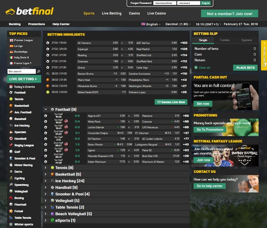 Betfinal Sportsbook
