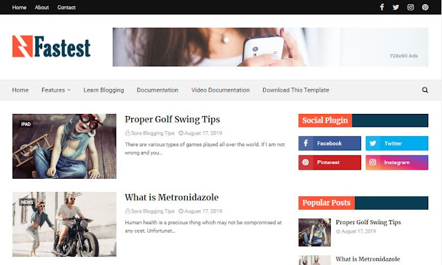 Simple Blogger Templates   Download Blogger Themes