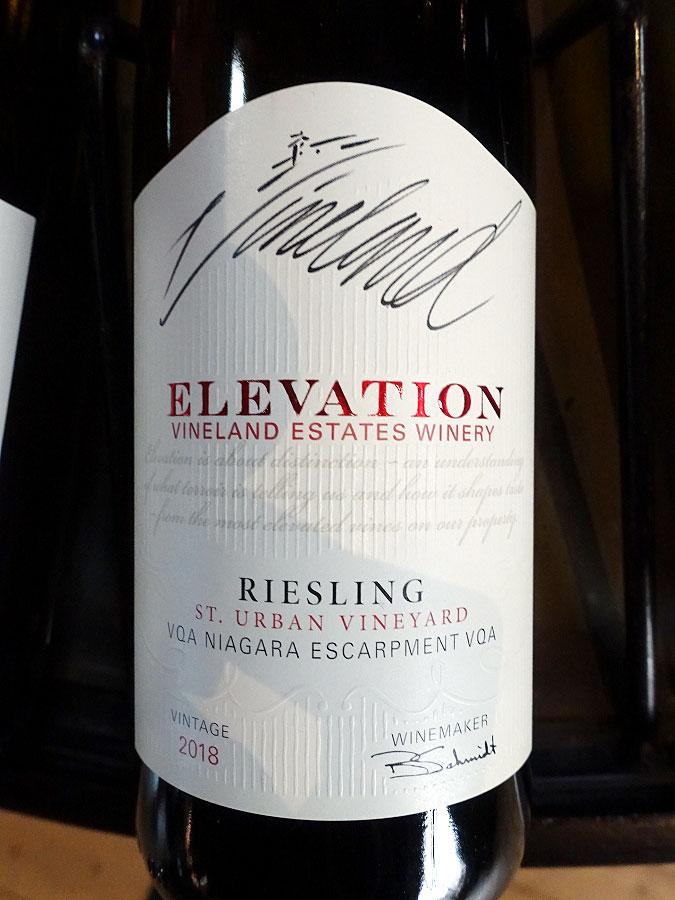 Vineland Estates Elevation St. Urban Vineyard Riesling 2018 (90 pts)