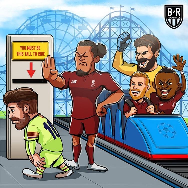 Meme Vignette Divertenti eliminazione Barcellona a Liverpool Foto 5.