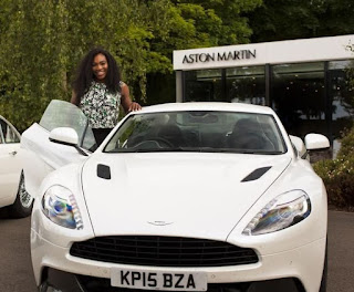 Oracene Price's daughter Serena with a car