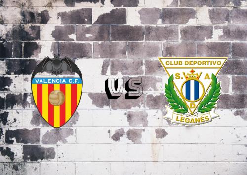 Valencia vs CD Leganés  Resumen