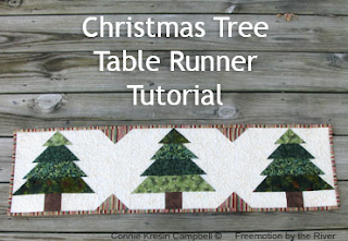 Free quilt pattern for a Christmas Tree Table Runner l conniekresin.com