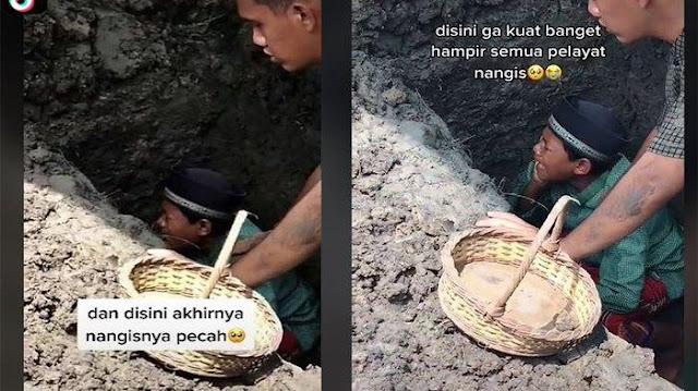 Sosok Bocah yang Viral Menangis Azani Jenazah Ayah di Liang Kubur, Bercita-cita Jadi Ulama