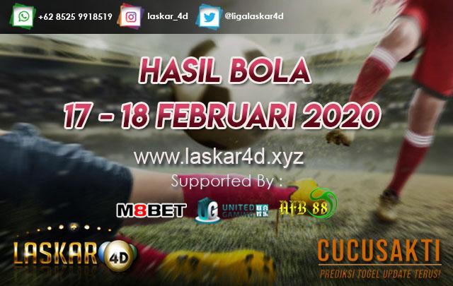 HASIL BOLA JITU TANGGAL 17 – 18 Februari 2020