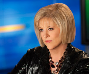 pic of Nancy Grace in partial provile