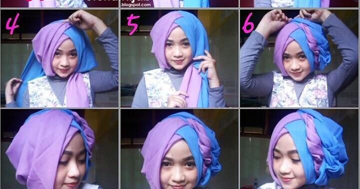 Tutorial Hijab Segi Empat 2 Warna untuk Wisuda dan Lebaran ...