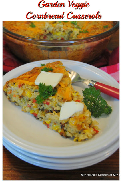 Garden Veggie Cornbread Casserole at Miz Helen's Country Cottage