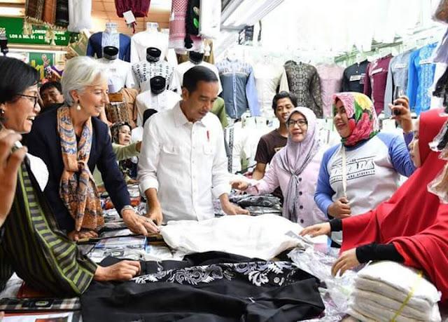 Ajak Bos IMF ke Tanah Abang, Ini 'Keanehan' di Unggahan Presiden Jokowi
