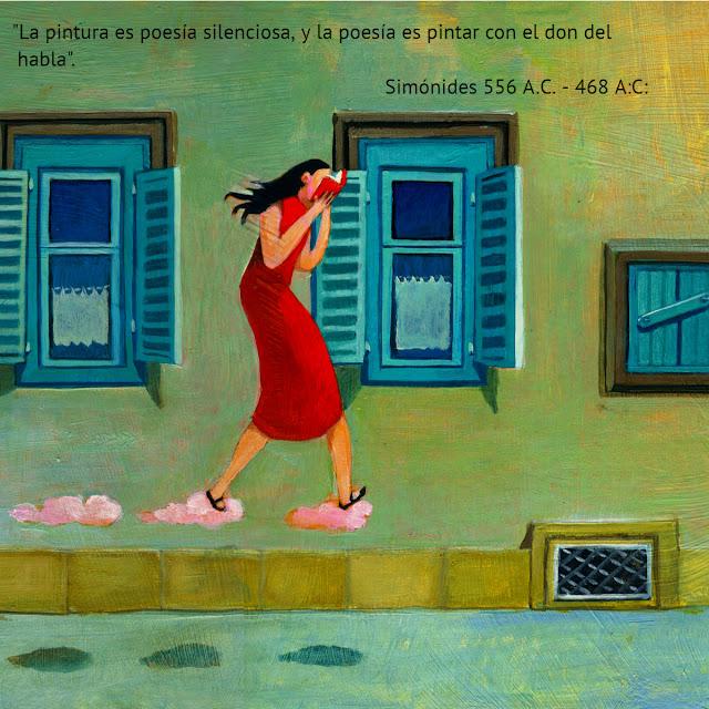 Simónides pintor pintura poesia poeta cuadro leer