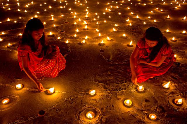Diwali decorations at home