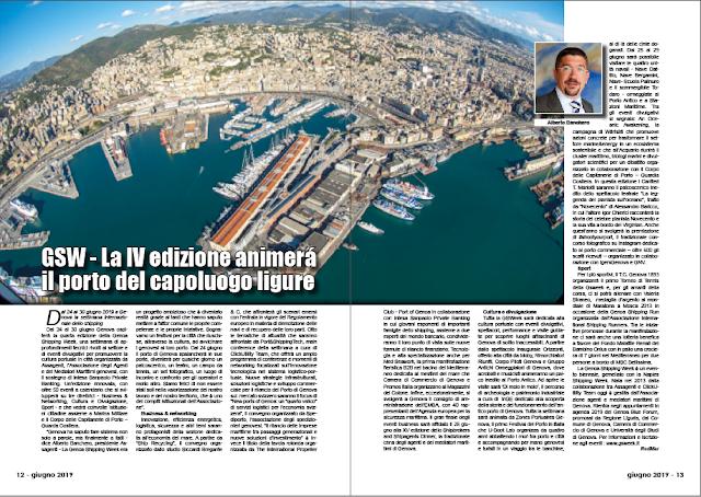 GIUGNO 2019 PAG. 12 - GSW - La IV edizione animerá il porto del capoluogo ligure