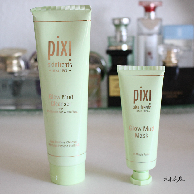pixi glow mud mask, pixi glow mud cleanser, review
