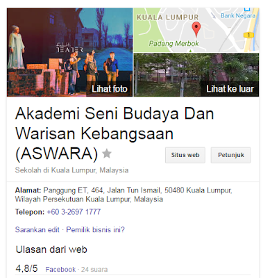 Rasmi - Jawatan Kosong (ASWARA) Akademi Seni Budaya Dan Warisan Kebangsaan 2019