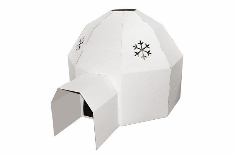 Iglú de cartón reciclado de Paperpod