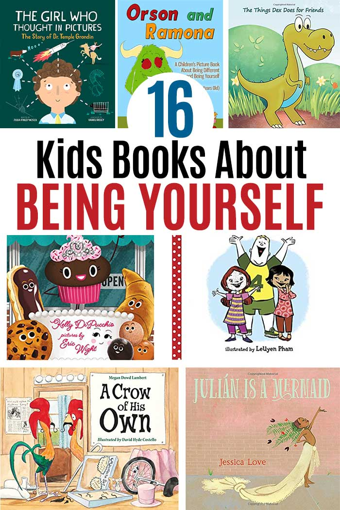 Books about being yourself for kids! Inspire self acceptance with these awesome picture books. Perfect for preschoolers and early elementary kids, these books about acceptance and being yourself are inspiring reads for kids and families. #kidsbooks #kidlit #beyourself #forkids