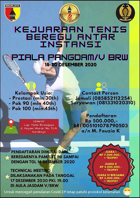 Turnamen Tenis Beregu Antar Instansi Piala Pangdam V/Brawijaya